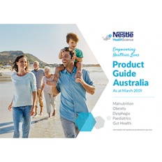 NESTLE HEALTH SCIENCE PRODUCT GUIDE 2019